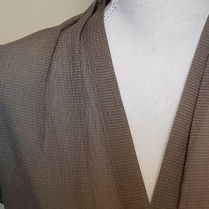 Tahari Tops - Tahari semi sheer ecru tunic top, size small